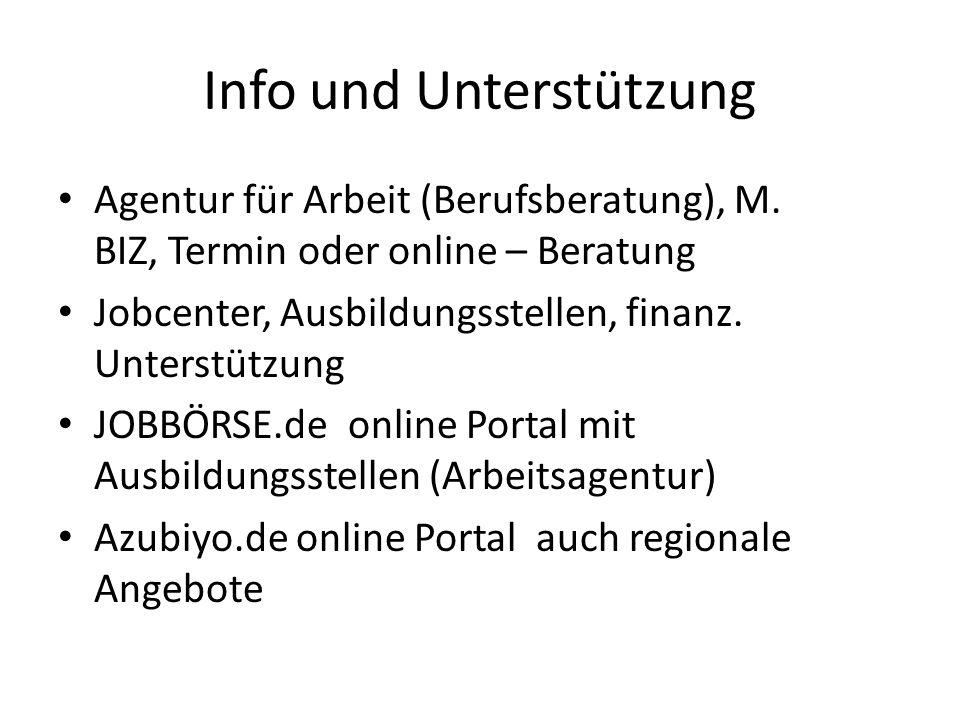 Info und Unterstützung