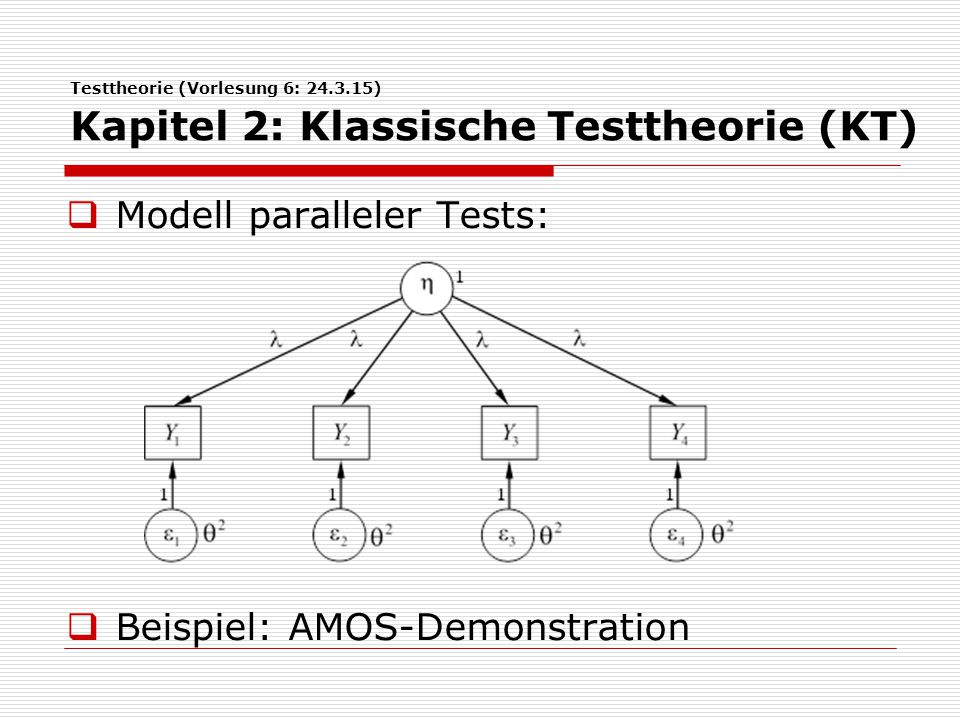Modell paralleler Tests: