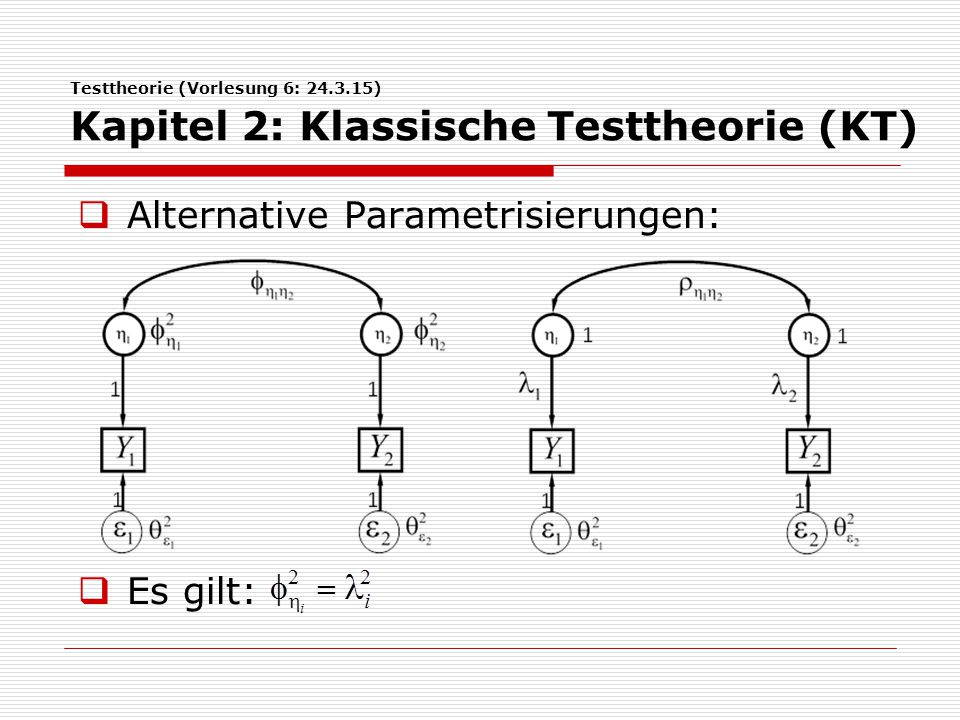 Alternative Parametrisierungen: