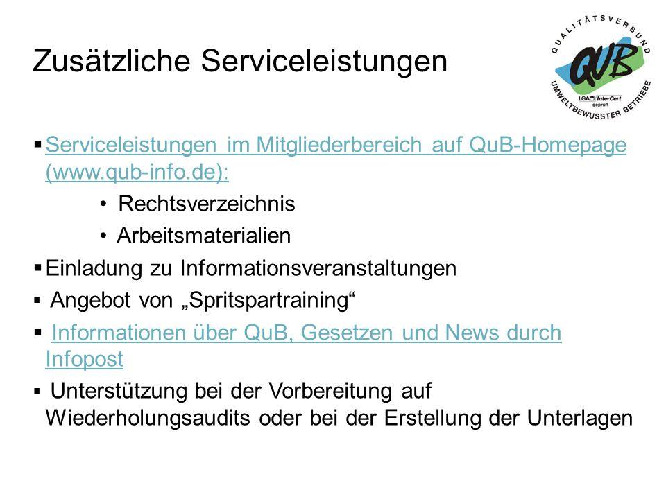 Zusätzliche Serviceleistungen
