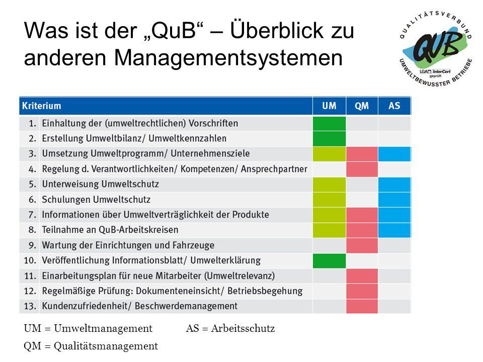 """Was ist der """"QuB – Überblick zu anderen Managementsystemen"""