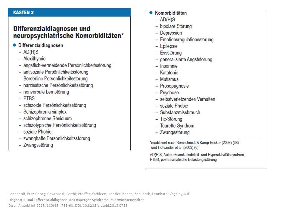 Lehnhardt, Fritz-Georg; Gawronski, Astrid; Pfeiffer, Kathleen; Kockler, Hanna; Schilbach, Leonhard; Vogeley, Kai