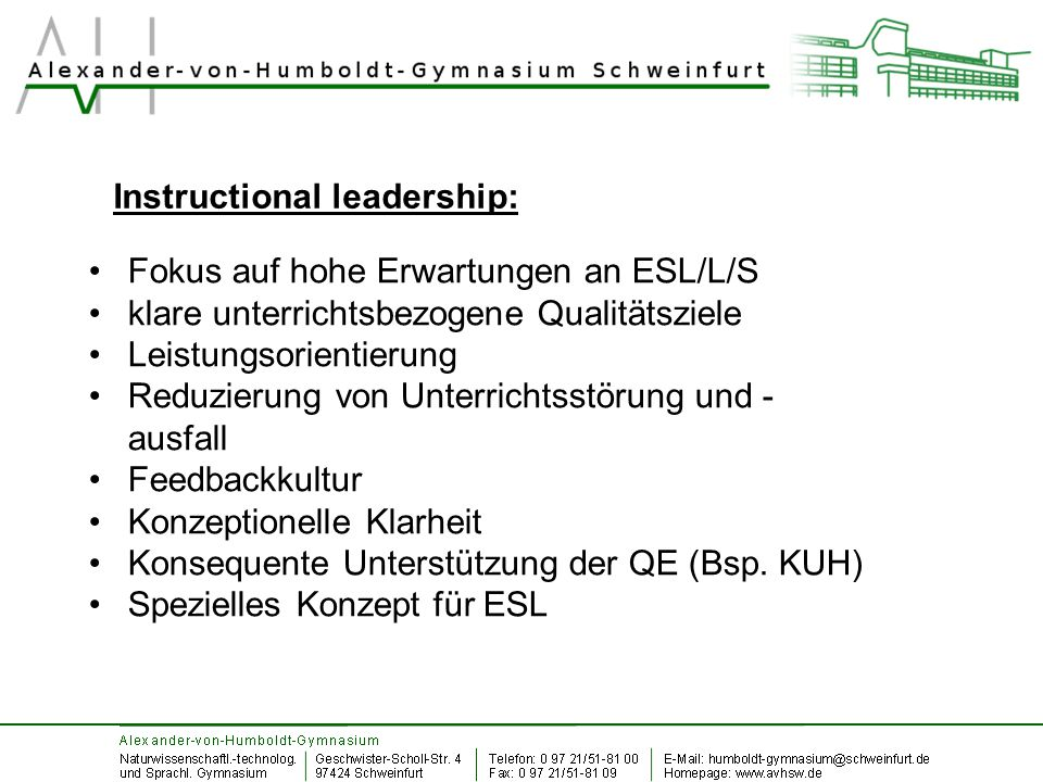 Instructional leadership: