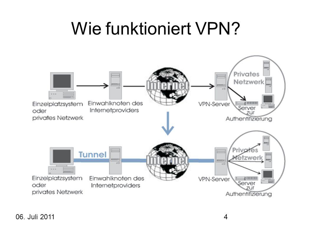 Wie funktioniert VPN 06. Juli 2011