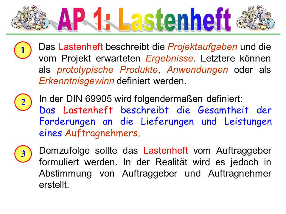 AP 1: Lastenheft 1.