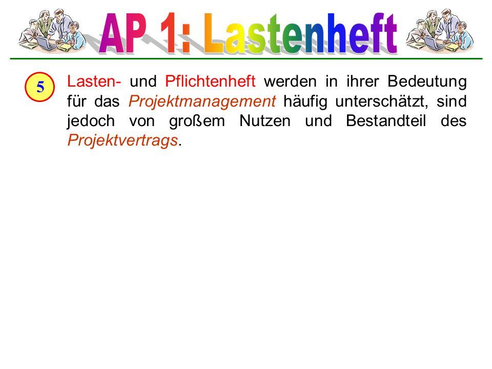 AP 1: Lastenheft 5.