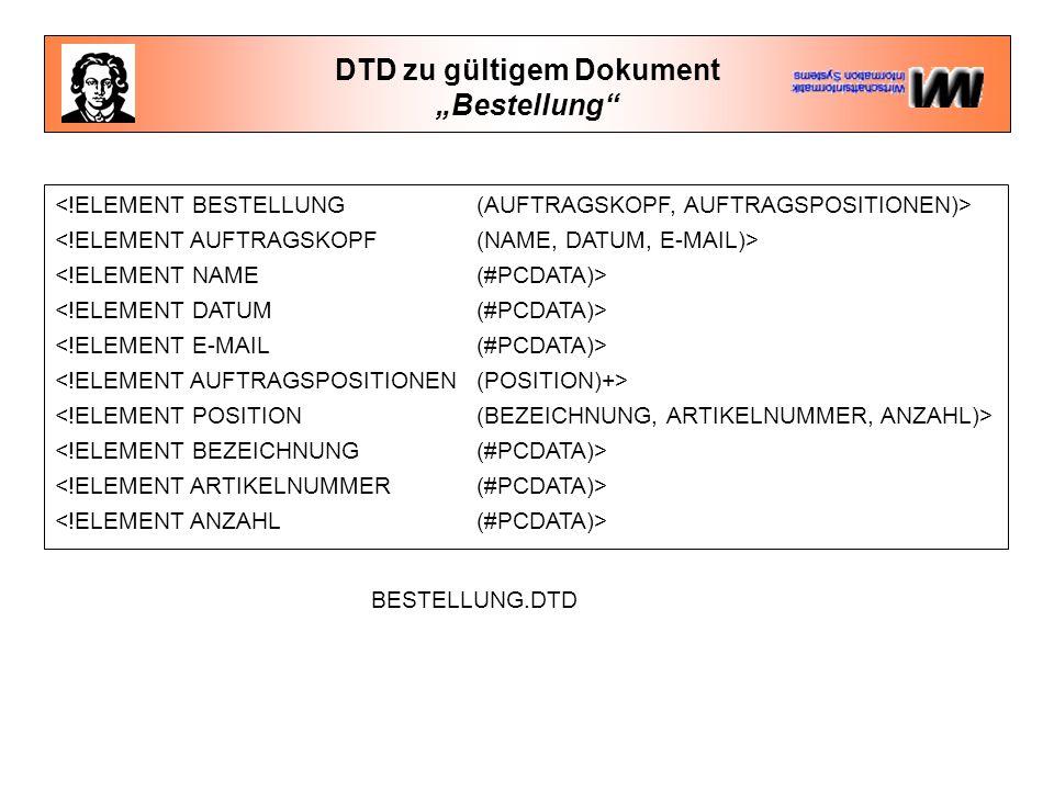 DTD zu gültigem Dokument