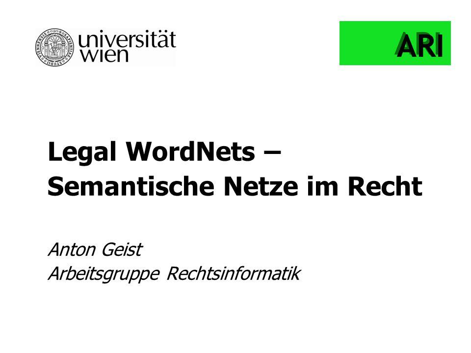 Semantische Netze im Recht