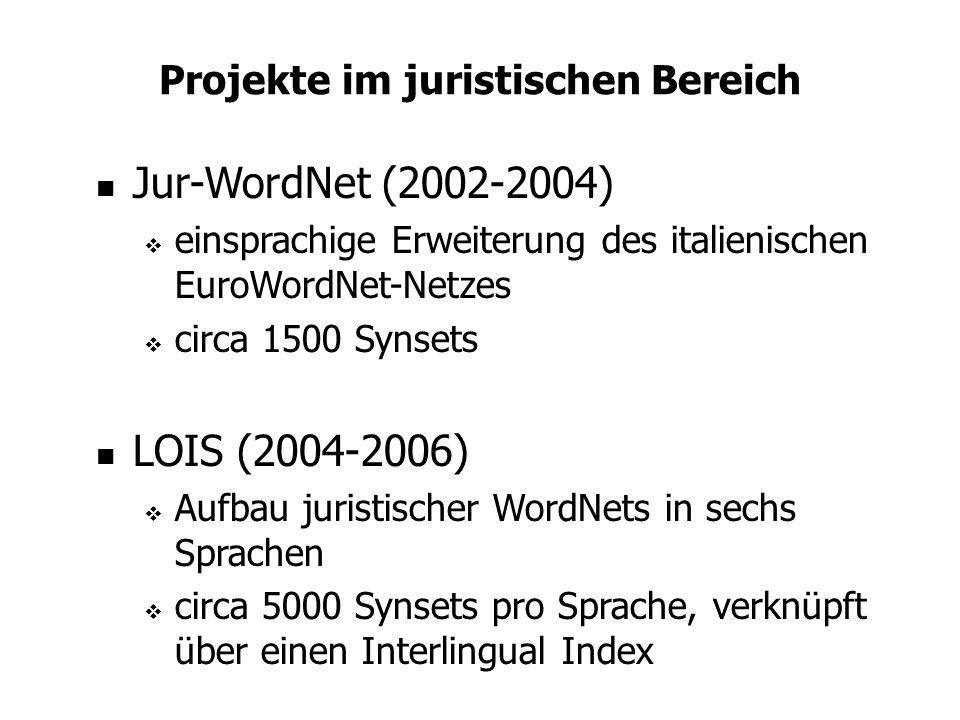 Projekte im juristischen Bereich
