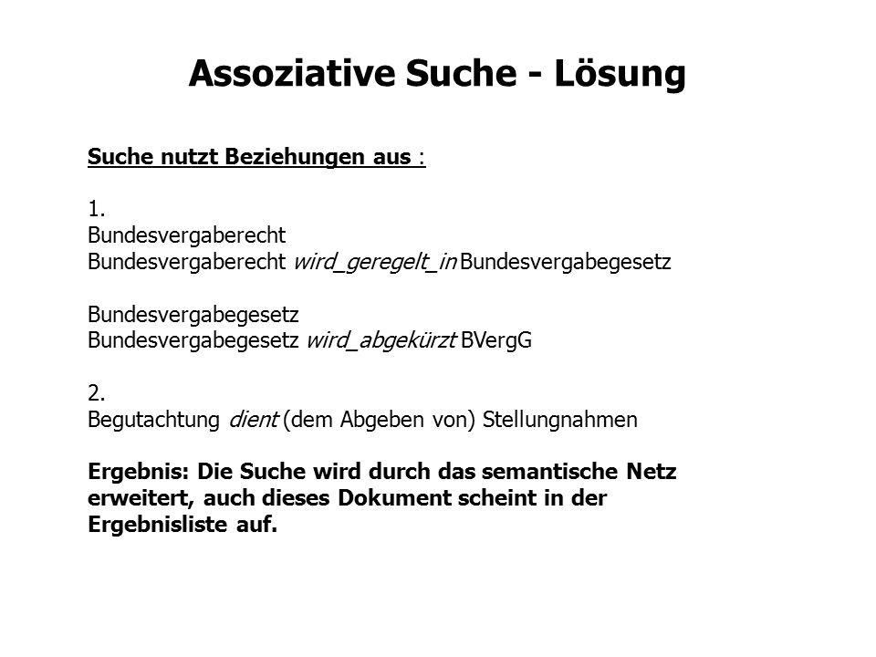 Assoziative Suche - Lösung