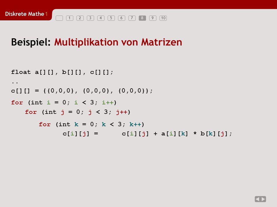 Beispiel: Multiplikation von Matrizen