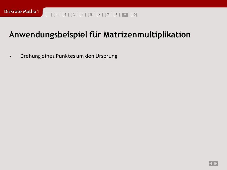 Anwendungsbeispiel für Matrizenmultiplikation