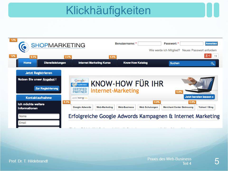 Klickhäufigkeiten Praxis des Web-Business Teil 4