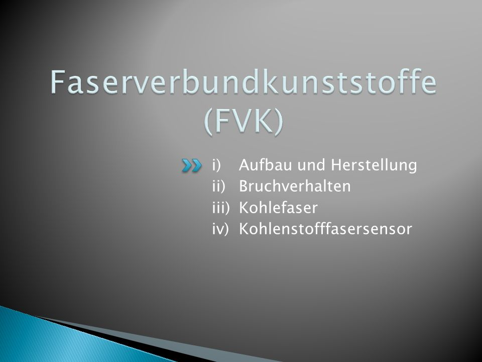 Faserverbundkunststoffe (FVK)