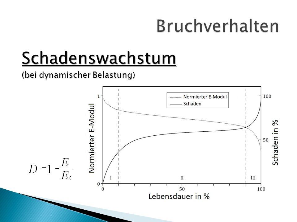 Bruchverhalten Schadenswachstum (bei dynamischer Belastung)
