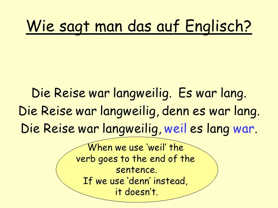 Wie sagt man das auf Englisch