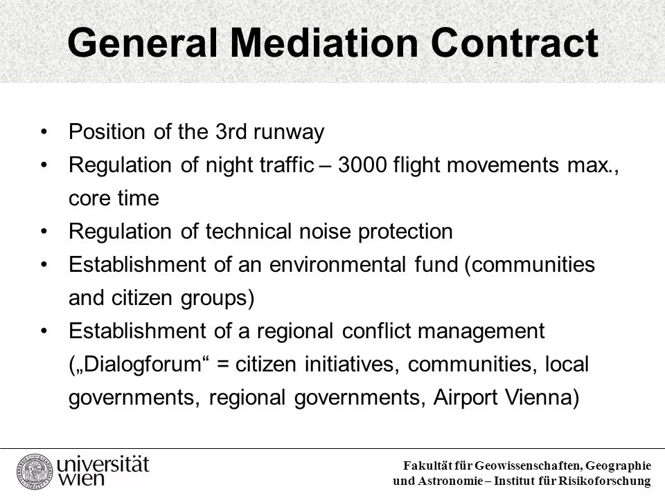 General Mediation Contract