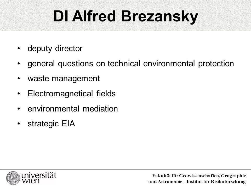 DI Alfred Brezansky deputy director