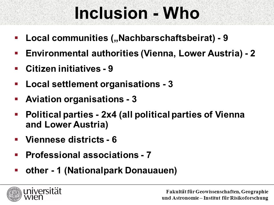 "Inclusion - Who Local communities (""Nachbarschaftsbeirat) - 9"
