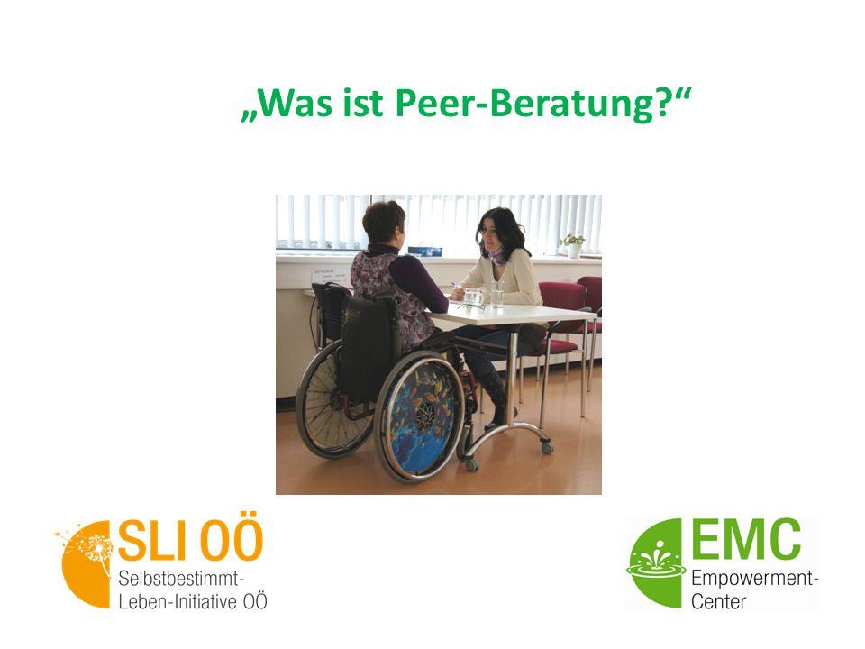 """""""Was ist Peer-Beratung"""