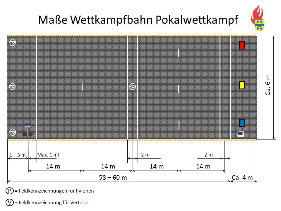 Maße Wettkampfbahn Pokalwettkampf