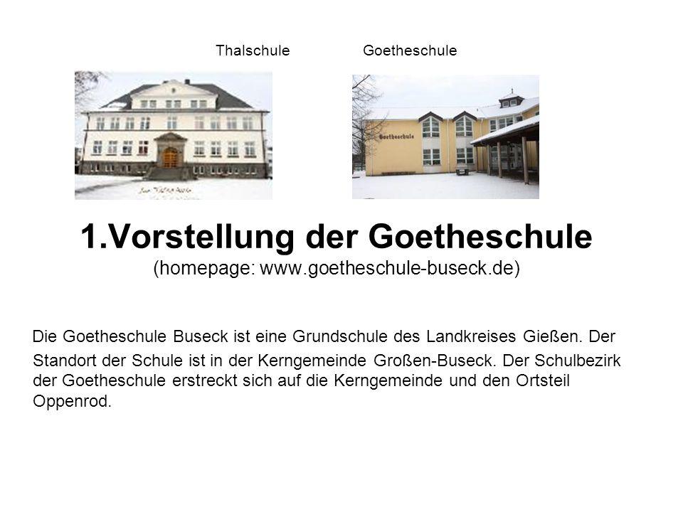Thalschule Goetheschule 1. Vorstellung der Goetheschule (homepage: www