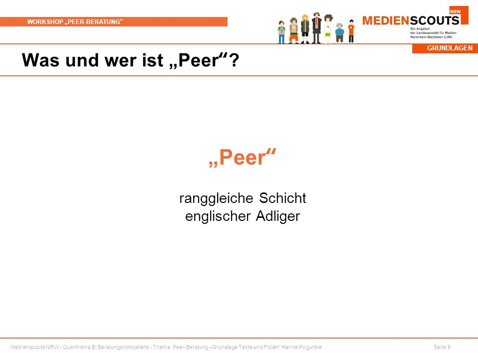 """""""Peer ranggleiche Schicht englischer Adliger"""