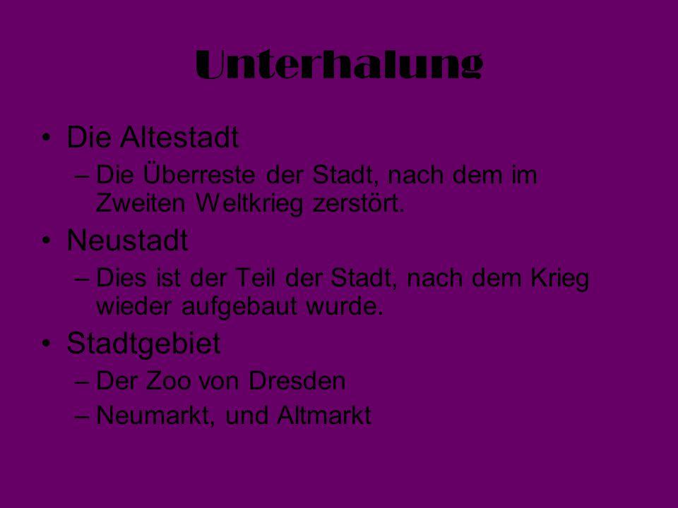 Unterhalung Die Altestadt Neustadt Stadtgebiet