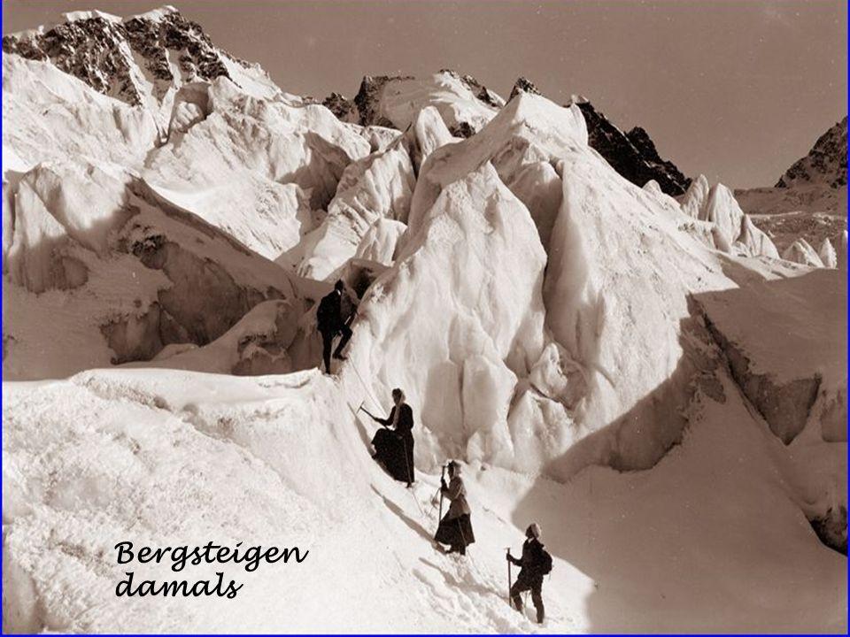Bergsteigen damals
