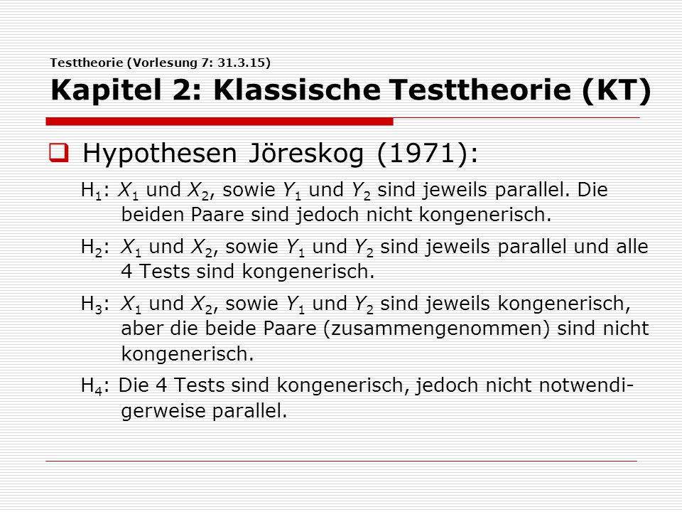 Hypothesen Jöreskog (1971):