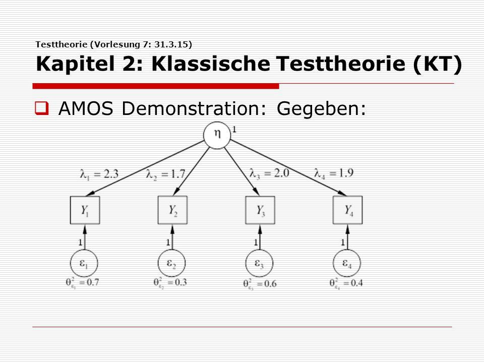 AMOS Demonstration: Gegeben: