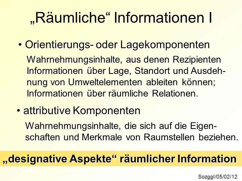 """""""Räumliche Informationen I"""