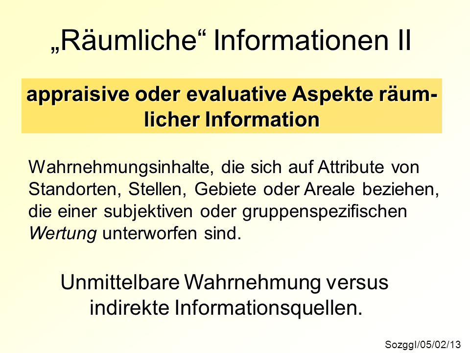 """""""Räumliche Informationen II"""