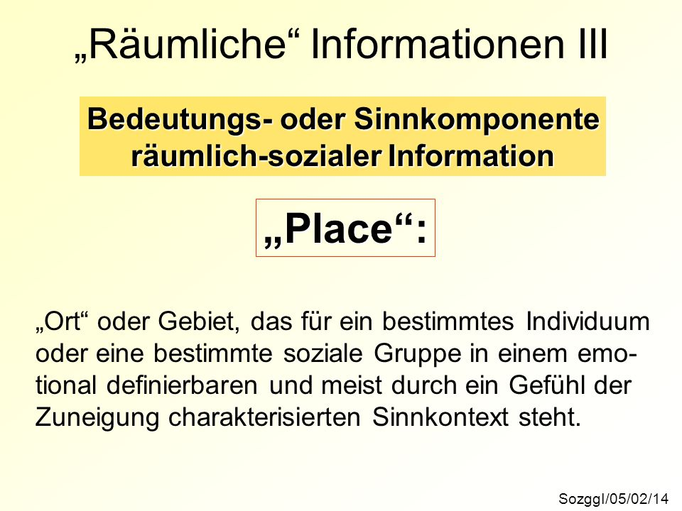 """""""Räumliche Informationen III"""