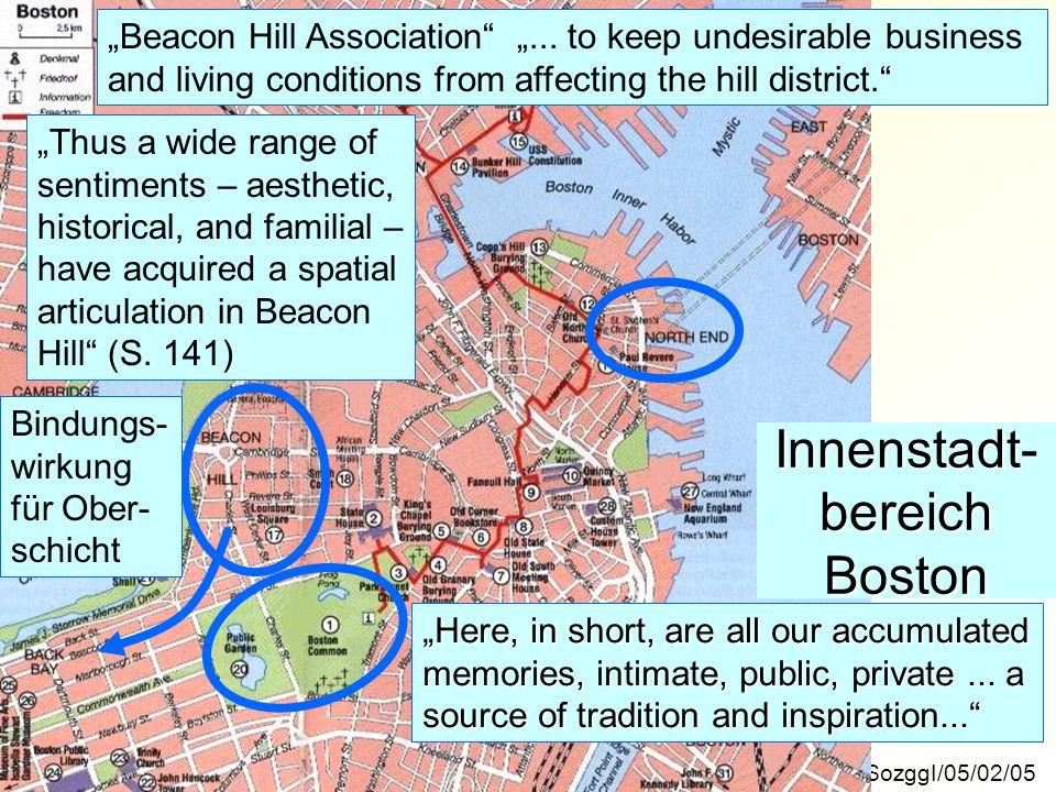 Innenstadt-bereich Boston