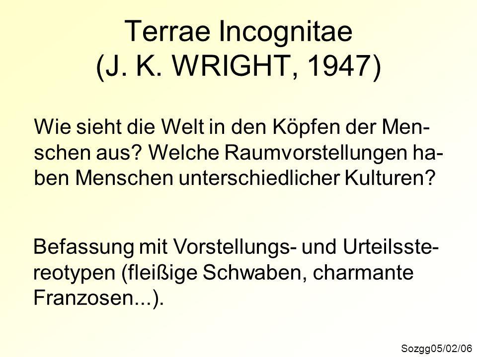 Terrae Incognitae (J. K. WRIGHT, 1947)