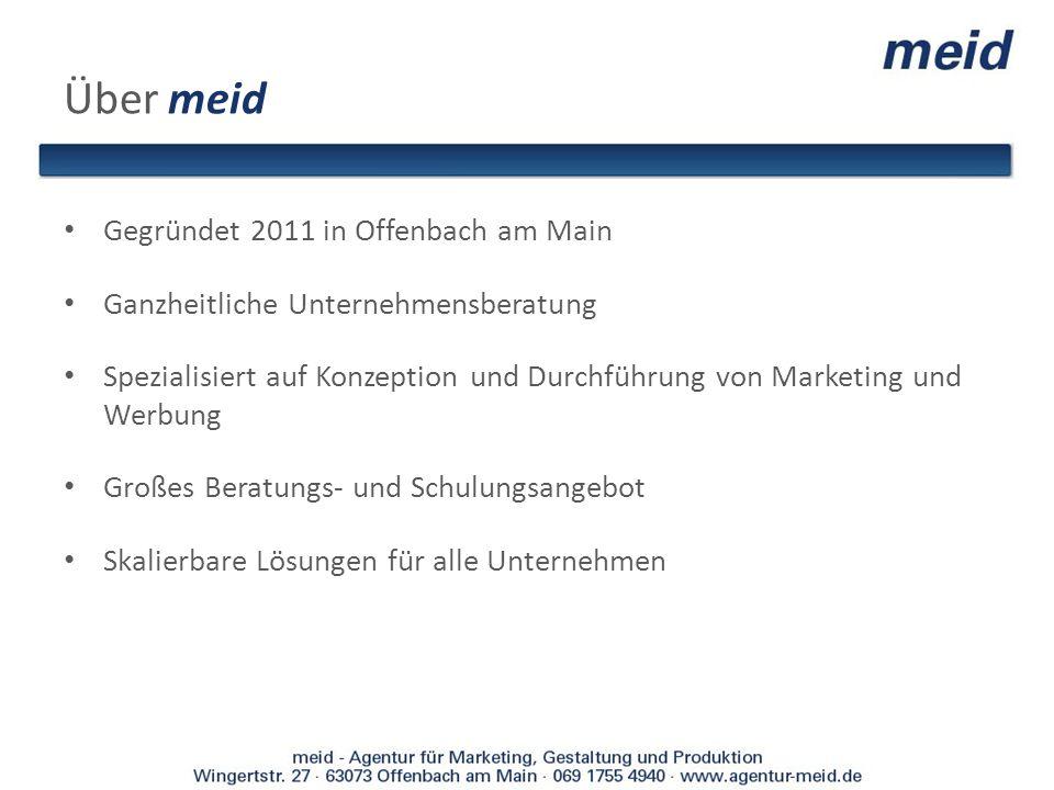 Über meid Gegründet 2011 in Offenbach am Main