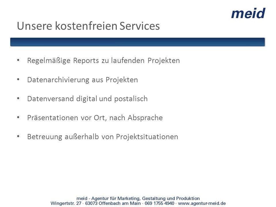 Unsere kostenfreien Services