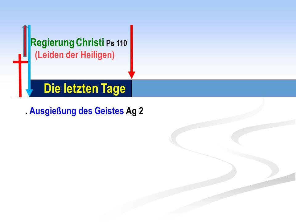 Die letzten Tage Regierung Christi Ps 110 (Leiden der Heiligen)