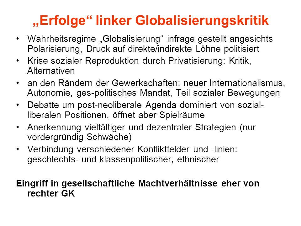 """""""Erfolge linker Globalisierungskritik"""