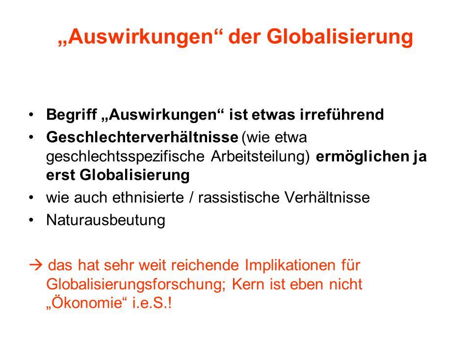 """""""Auswirkungen der Globalisierung"""