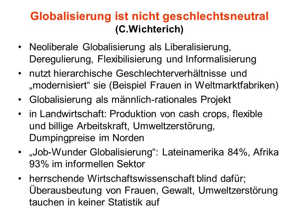 Globalisierung ist nicht geschlechtsneutral (C.Wichterich)