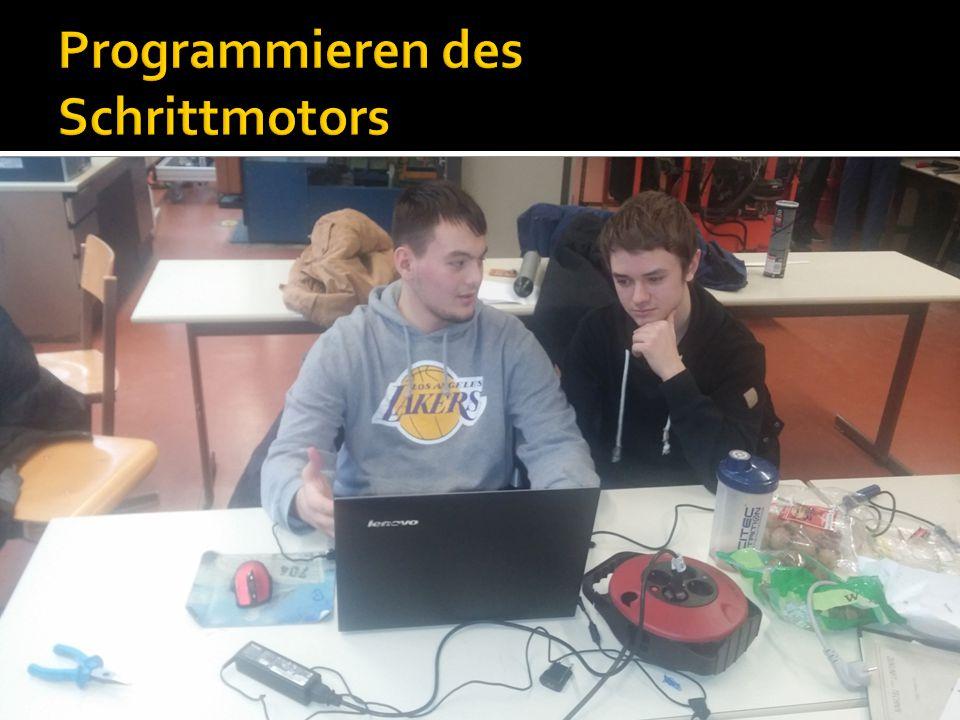 Programmieren des Schrittmotors