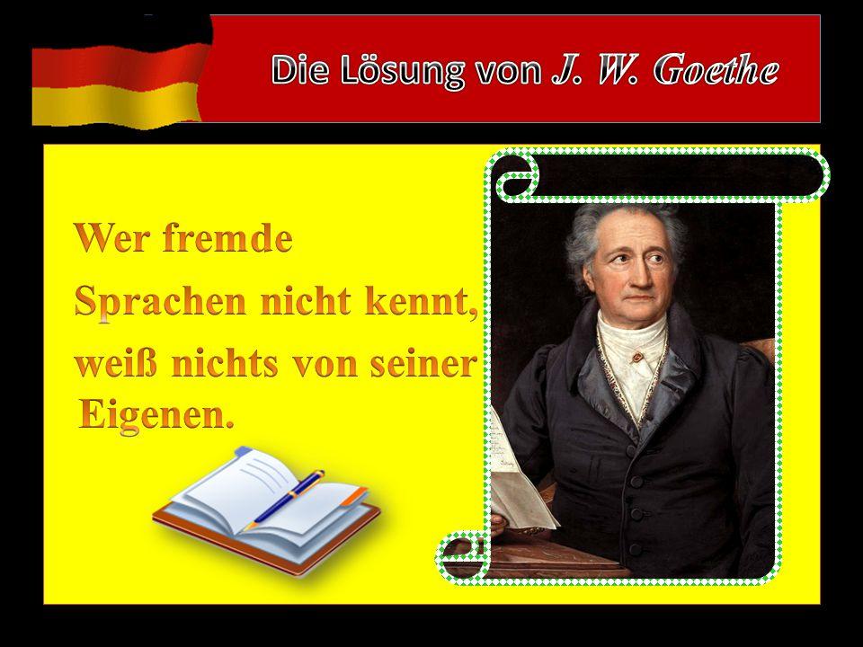 Die Lösung von J. W. Goethe