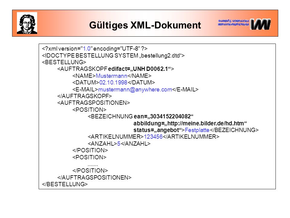 Gültiges XML-Dokument