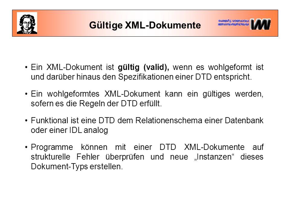 Gültige XML-Dokumente