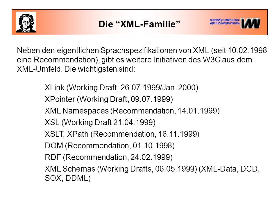 Die XML-Familie