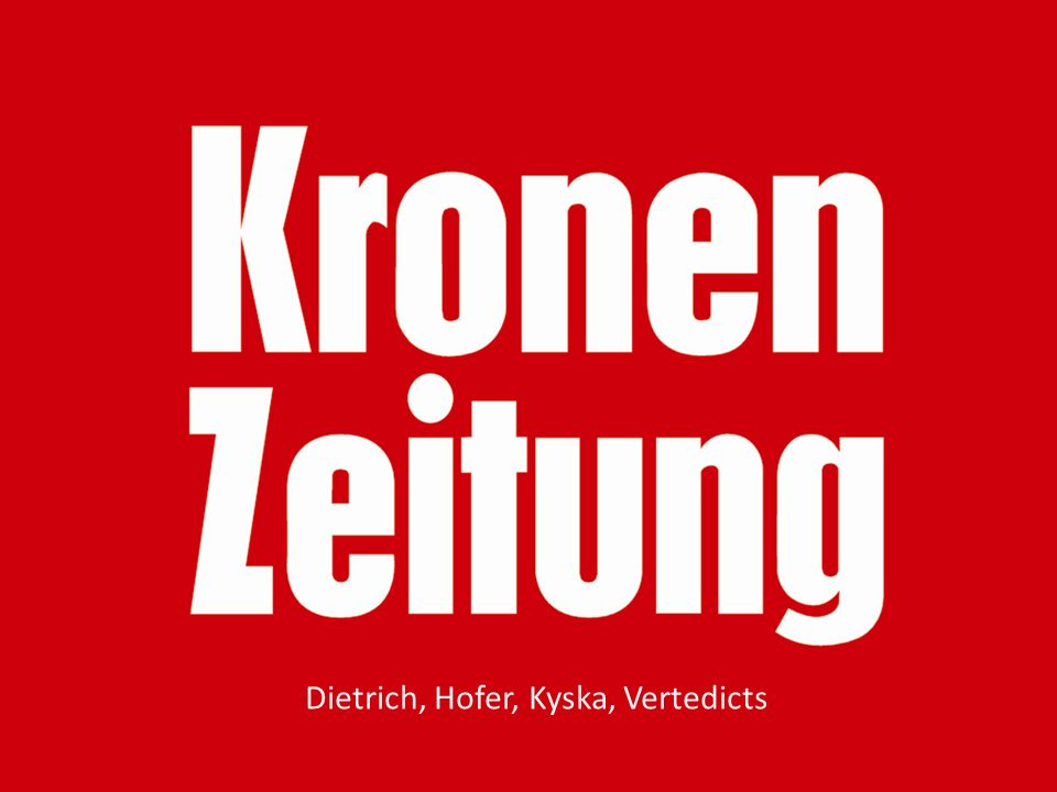 Dietrich, Hofer, Kyska, Vertedicts