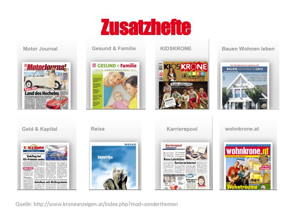 Zusatzhefte Quelle: http://www.kroneanzeigen.at/index.php mod=sonderthemen