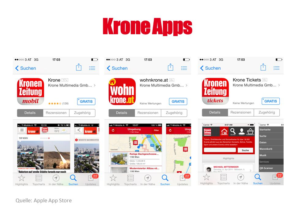 Krone Apps Quelle: Apple App Store